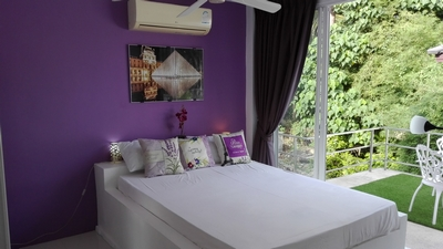 "Photo 26 English "" Le LOUVRE "" romm,Villa PARIS,   large bed 1.50m bed, its Italian shower in Koh Samui, Suratthani, Thailande"